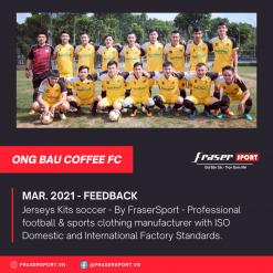 Bộ quần áo bóng đá thiết kế Cà phê Ông Bầu FC 2021