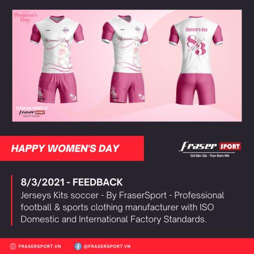 Bộ quần áo bóng đá thiết kế Women's Day 2021