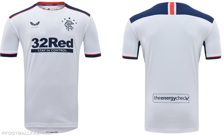 Vị trí thứ 6 dành tặng cho mẫu áo của đội tuyển Rangers