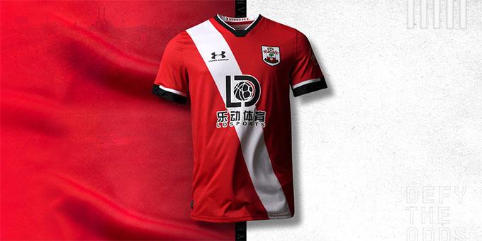 Vị trí 19 trong các mẫu áo bóng đá đẹp nhất là của Southampton