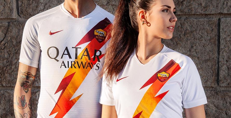 Mẫu áo sân khách giải đấu 2019/2020 của câu lạc bộ AS Roma