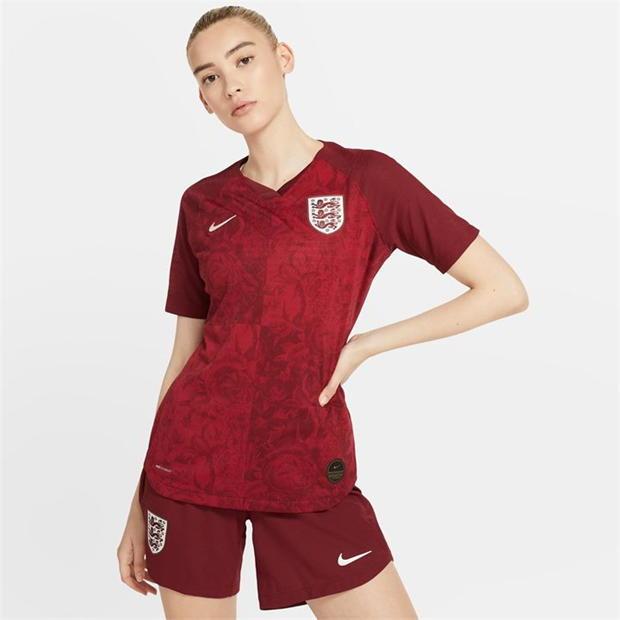 Mẫu áo sân khách của đội tuyển bóng đá nữ Anh năm 2019